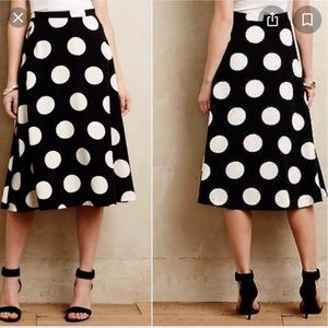 HD in Paris Deco Dot Midi Skirt Anthropologie 10